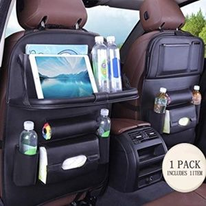 PU Leather Premium Car BackSeat Organizer Travel A